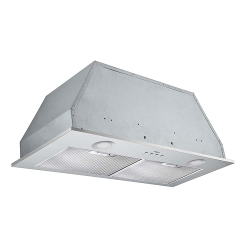 Ancona Inserta Elite 28 in. Insert Range Hood with LED in Stainless Steel - Silver