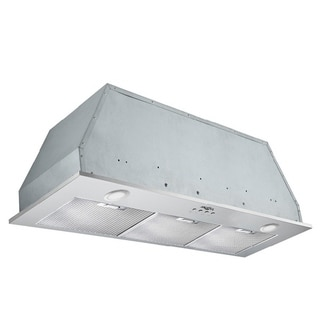 Ancona Inserta Elite 36 in. Insert Range Hood with LED in Stainless Steel - Silver