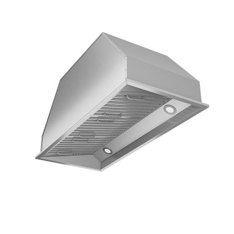 Ancona Chef Insert 34 in. Range Hood with LED in Stainless Steel