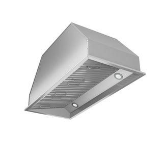 Ancona Chef Insert 34 in. Range Hood with LED in Stainless Steel - Silver