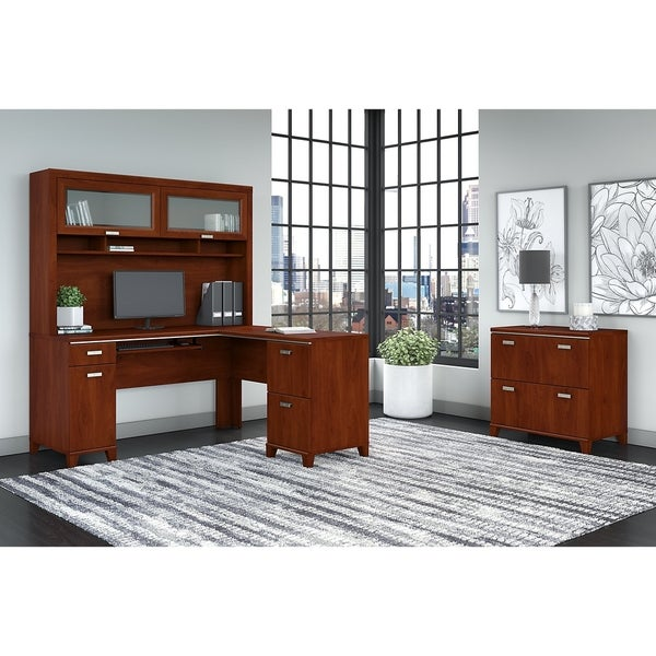Shop Bush Furniture Tuxedo L Shaped Desk With Hutch And