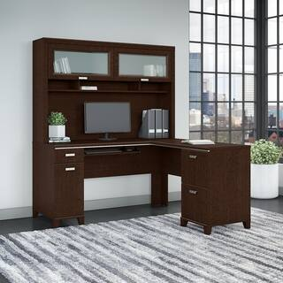 Yorktown L Shaped Desk Hutch File Cabinet And Bookcase