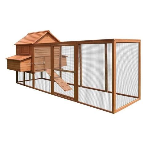 ALEKO Chicken Hen Coop Cage Bunny Hutch Small Pet House