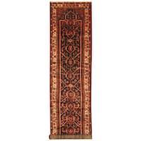 Handmade Herat Oriental Persian Hand-Knotted Hamadan Wool Runner - 3'9 x 16'10