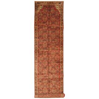 Handmade Herat Oriental Persian Hand-Knotted Hamadan Wool Runner (3'10 x 16'10)