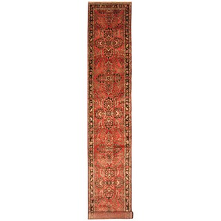 Handmade Herat Oriental Persian Hand-Knotted Hamadan Wool Runner (3' x 18'9) - 3' x 18'9 (Iran)