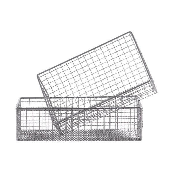shop utc45501  metal rectangle wire basket with mesh