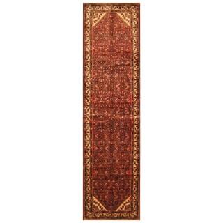 Handmade Herat Oriental Persian Hand-Knotted Hamadan Wool Runner (Iran) - 3'7 x 14'2