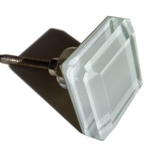 GlideRite 1.5 inch Square White Glass Cabinet Knobs (Pack of 10 or 25)