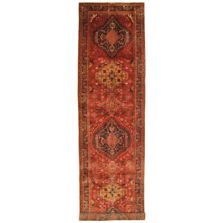 Handmade Herat Oriental Persian Hand-Knotted Heriz Wool Runner (4' x 15'3)