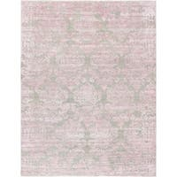 Pasargad Transitiona Pink/Camel Rayon From Bamboo Hand-knotted Area Rug - 9'9 x 13'9