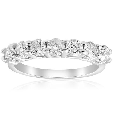 Bliss 14k White Gold 1 ct TDW Diamond Wedding Ring