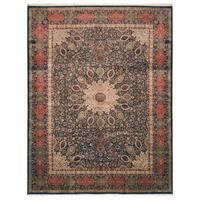 Handmade Herat Oriental Persian Hand-Knotted Kashan Wool Rug (9'8 x 12'8) - 9'8 x 12'8