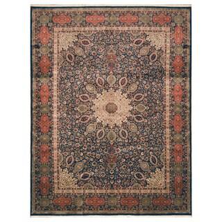 Handmade Herat Oriental Persian Hand-Knotted Kashan Wool Rug (9'8 x 12'8)