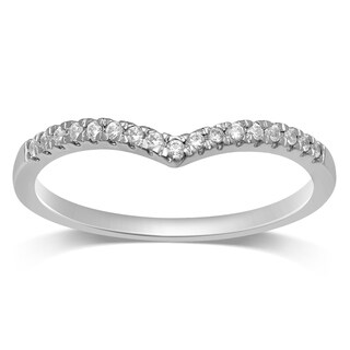 Unending Love 10k White/ Rose / Yellow Gold 1/10 ctw Diamond Stackable Band