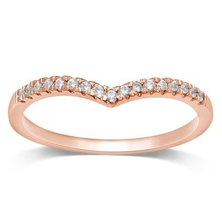 Unending Love 10k Rose Gold 1/10 ctw Diamond Stackable Band (5 options available)