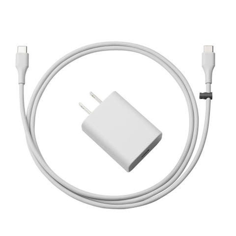 Google Quick Fast Charger Adapter with TYPE C to C Wire for Pixel/XL/C