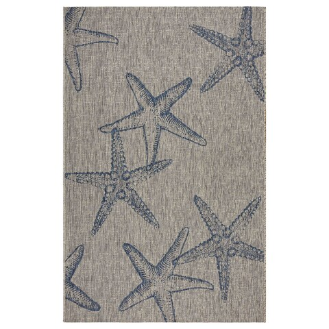 LR Home Captiva Starry Shores Indoor/Outdoor Area Rug - 7'9 x 9'6