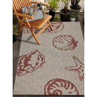 LR Home Captiva Jewel Beach Indoor/Outdoor Area Rug - 5' x 7'