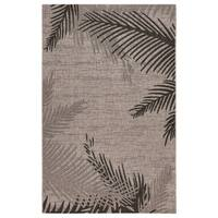 LR Home Captiva Shaded Palms Beige/ Black Polypropylene Rug - 5' x 7'