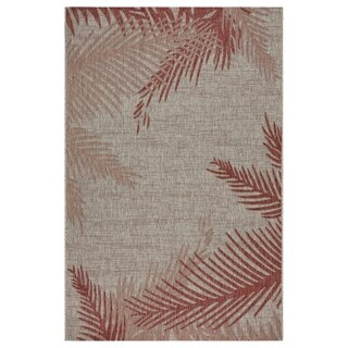 LR Home Captiva Blushing Palms Indoor/Outdoor Area Rug (5'x7') - 5' x 7'