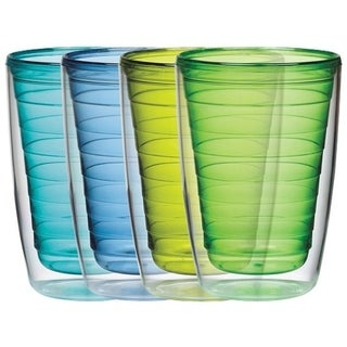 BPA free Insulated Plastic Tumblers, 4 Piece Set (Option: Blue)