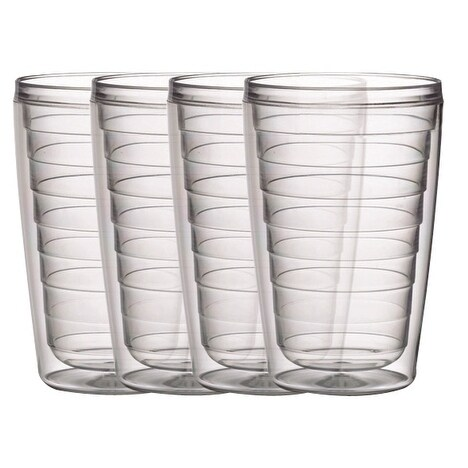 BPA free Insulated Plastic Tumblers, 4 Piece Set