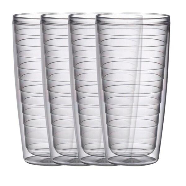 BPA free Insulated 24 oz Plastic Tumblers, 4 Piece Set