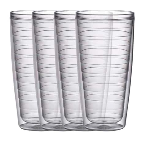 BPA free Insulated 24 oz Plastic Tumblers, 4 Piece Set