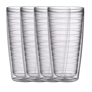BPA free Insulated Plastic Tumblers, 4 Piece Set (3 options available)