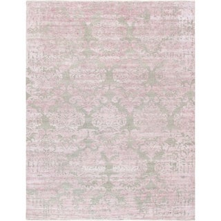 "Transitiona Collection Hand-Knotted Bamboo Silk Rug (5' 9"" X 8' 9"")"