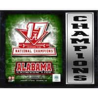 12x15 Stat Plaque - 2017 National Champion Alabama Crimson Tide