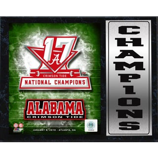12x15 Stat Plaque - 2017 National Champion Alabama Crimson Tide