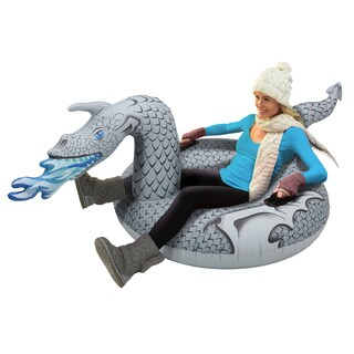 GoFloats Ice Dragon Winter Snow Tube - The Ultimate Snow Sled - Winter is Coming