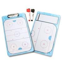 GoSports Hockey Dry Erase Coaches Board with 2 Dry Erase Pens
