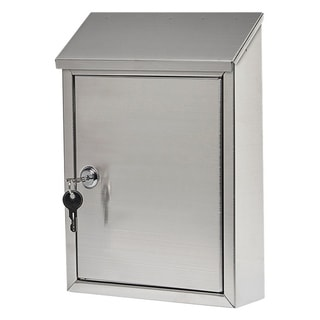 Gibraltar  Ashley  Stainless Steel  Wall-Mounted  Lockable Mailbox  Silver  11-11/16 in. H x 2-13/16 in. L