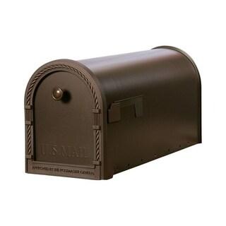 Solar Group Gibraltar Designer Steel Post Mounted Mailbox Bronze 11 in. H x 22-1/2 in. L