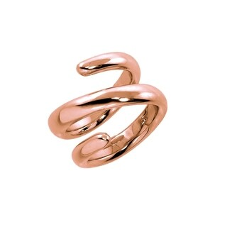 Eternally Haute High Polished Rose Gold Spiral Ring