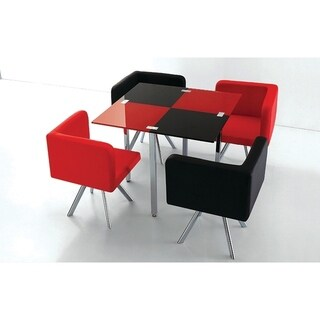 Best Master Furniture Red/ Black 5 Pieces Dinette