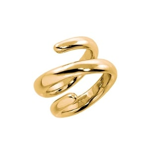 Eternally Haute High Polished Gold Spiral Ring