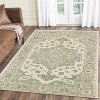LR Home Modern Traditions Legend Green Indoor Area Rug - 5' x 7'9