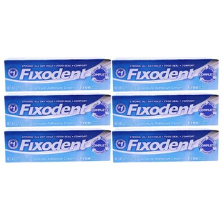 Fixodent Free 0.75-ounce Denture Adhesive Cream (Pack of 6)