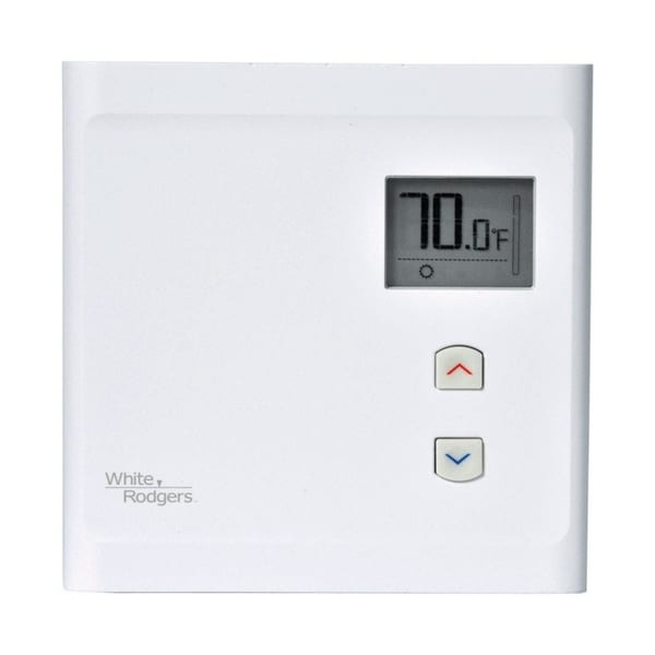 White Rodgers 2-1/2 in. H x 3 in. W Electric Baseboard Thermostat