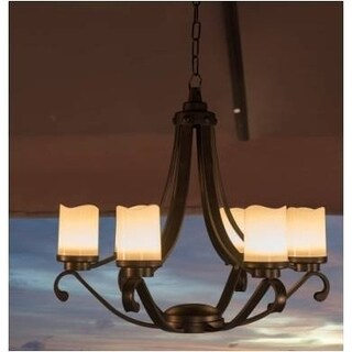 Plastic LED Chandelier with dry battery