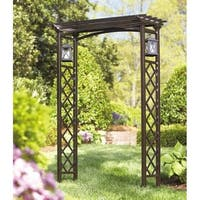 Metal Arbor With Lantrens