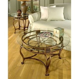 Scottsdale Collection Bronze Finish Glass Top Cocktail Table