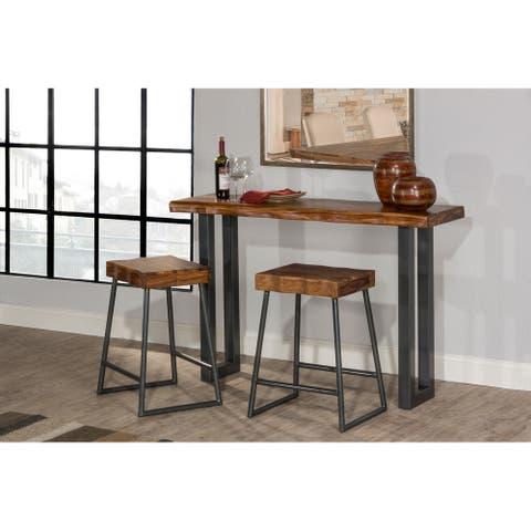 Carbon Loft Mattison 3-piece Sofa Table and Non-swivel Counter Stools