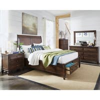 Progressive Coronado Brown King Bed With Storage