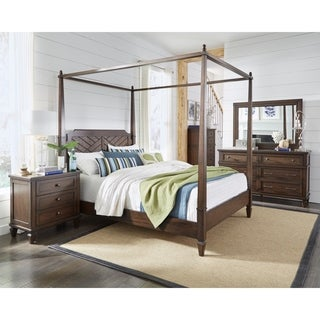 Coronado Complete Queen Canopy Bed