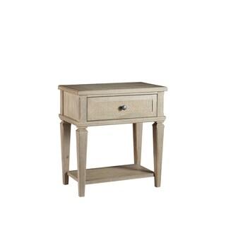 Coronado Brown Wood/Rattan 1-drawer Nightstand